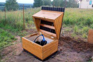 Надземный домик для скважины