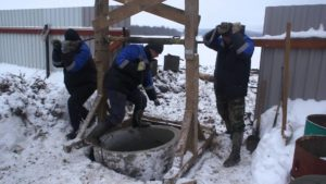 Особенности проведения работ в зимний период копки колодца